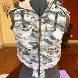 Army Green Vest with Hood